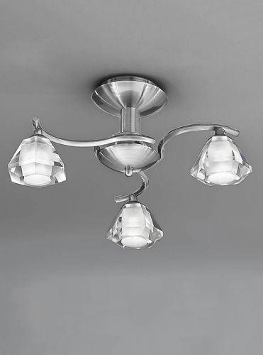 Franklite FL2294/3 Satin Nickel Ceiling Light